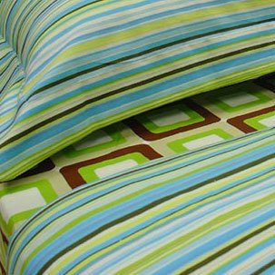 Stripes - Blue, Pillow Shams (pair), Standard