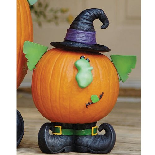 Witch Pumpkin Decorative - Small