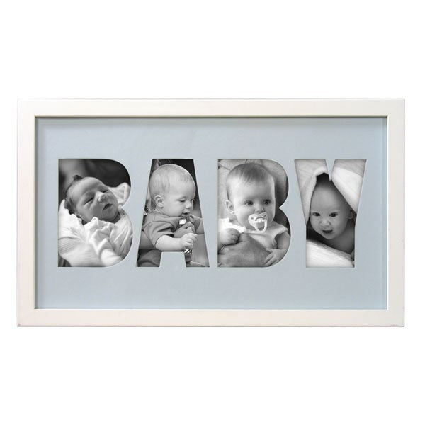 Baby Alpha Picture Frame - Blue