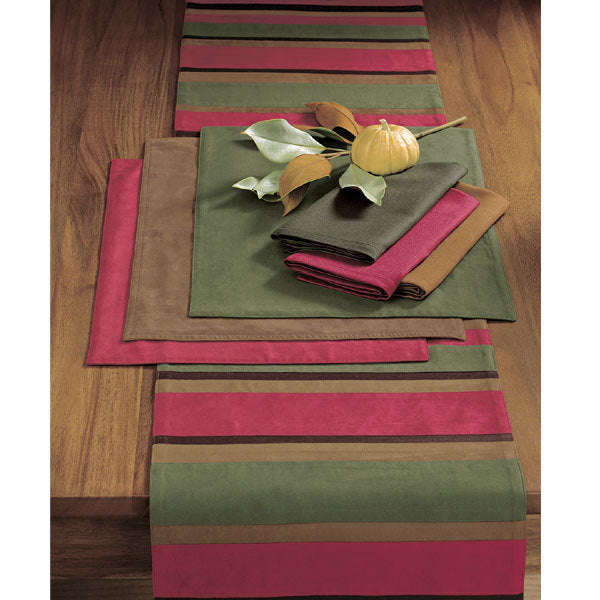Capriana Stripe Micro Suede Table Runner