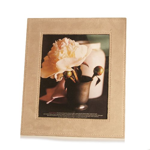 "Faux Suede Photo Frame 8x10"" (set of 2)"