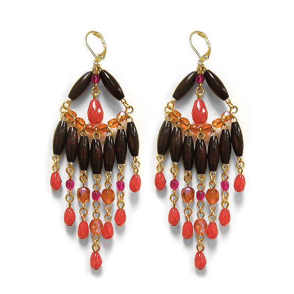 Milan Ruby Chandelier Earrings