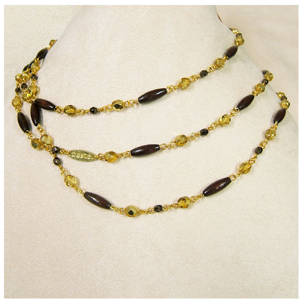 Charleston Bead Necklace - Wood