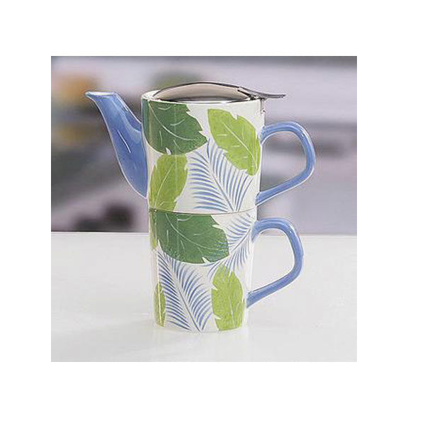 i-Stack Mug Set - Tropical Leaves