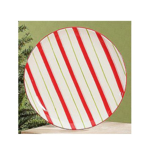 Candy Cane Dessert/Snack Plates (set of 4)