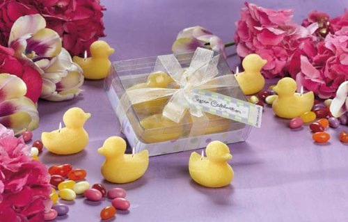 4pc Mini Chick Candle Set