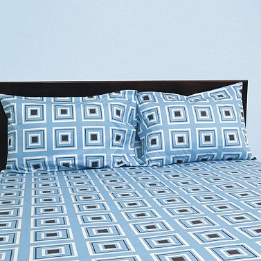 Urban Squares - Aqua/Coffee Bedding Collection