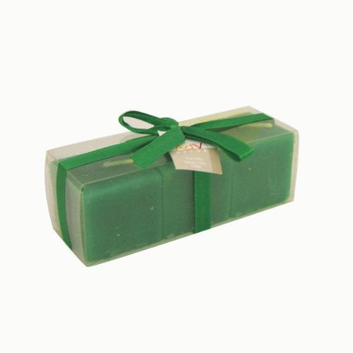Cube Candles - Green (set of 3)