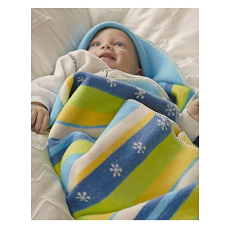 Juwel Baby Stripe Blanket - Blue/Green