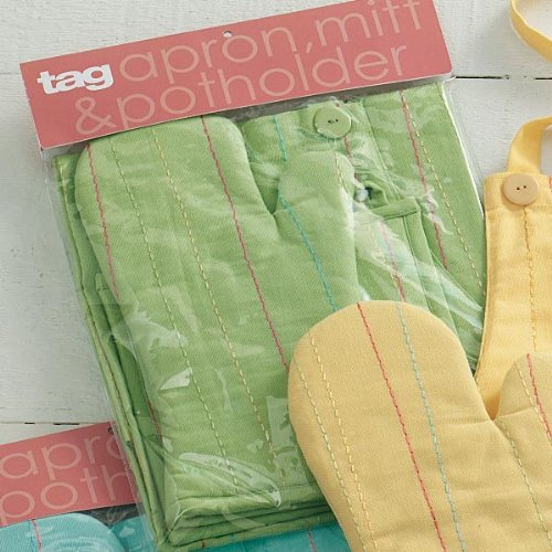 Criss Cross Apron/Mitt/Potholder Set