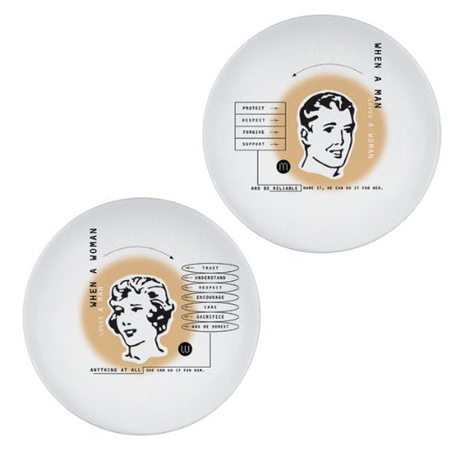 Faces of Love Dish (set of 2)