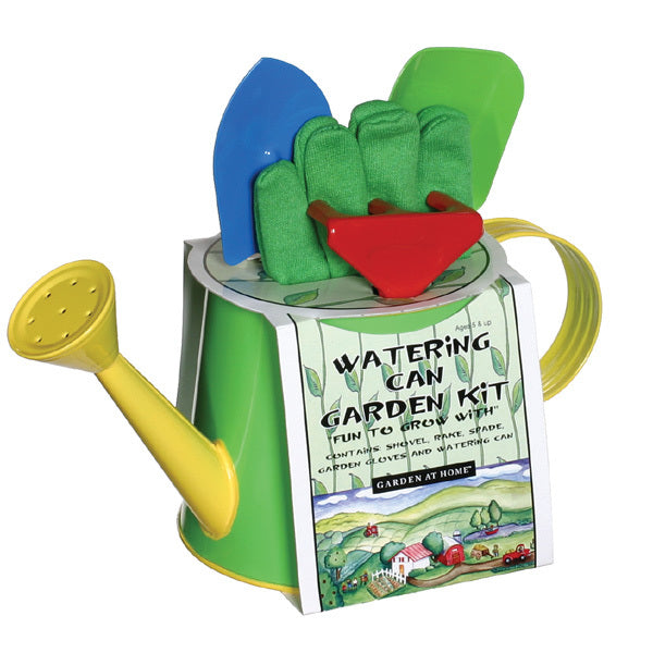 Kid's Watering Can Garden Kit - Blue/Green