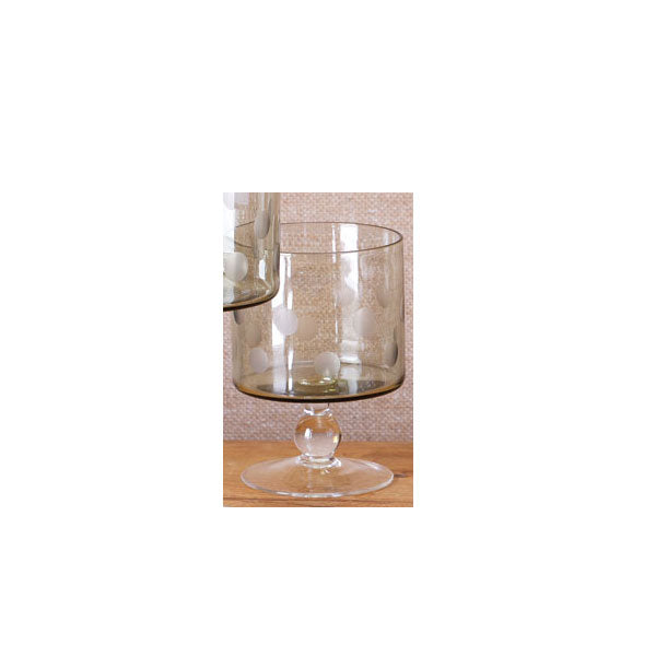 Sage Etched Dot Double Old-Fashioned (set of 4)