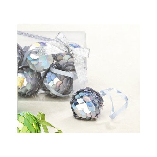 Sequins Christmas Ornaments (set of 6)
