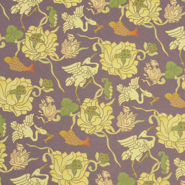 Lotus and Crane Washi Decorative Paper (set of 3)