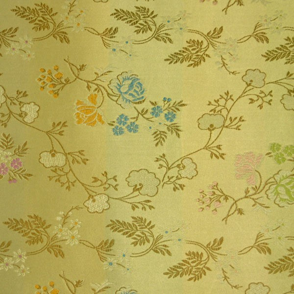 Floral Satin Brocade Decorative Paper - Golden Peony (set of 3)