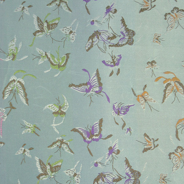 Butterfly Satin Brocade Decorative Paper - Green Mist (set of 3)