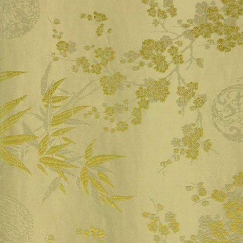 Bamboo Satin Brocade Decorative Paper (set of 3) - Golden/Cream