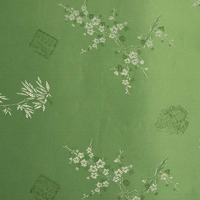 Bamboo Satin Brocade Decorative Paper (set of 3) - Green
