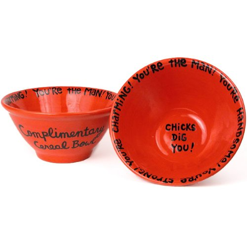 Chicks Dig You Cereal Bowl - Red