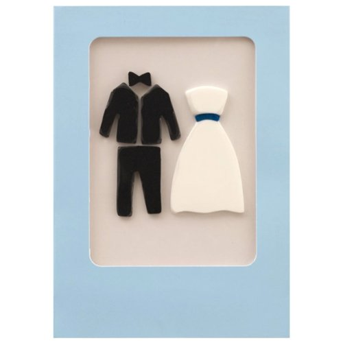 Bride & Groom Wedding Gel Gem Greeting Card