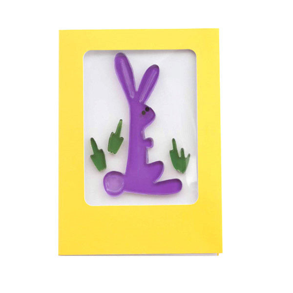 Easter Gel Gem Greeting Card - Hippity hoppity