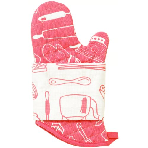 Retro Kitchen Mitts & Tea Towel Set