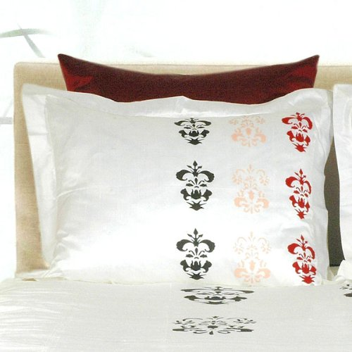 "French Motif Pillow Sham, Standard (20"" x 26"") - Small Print"