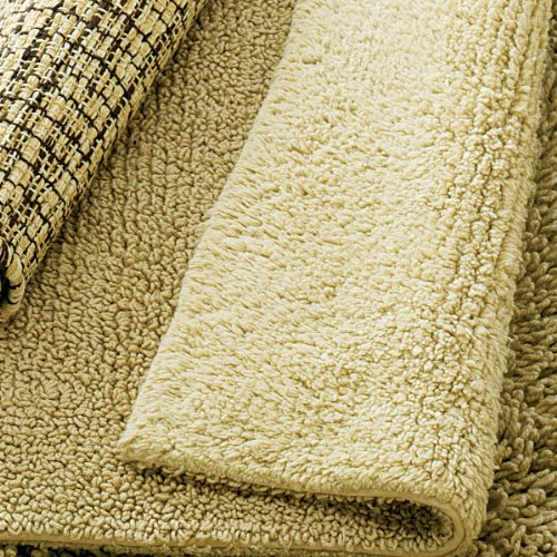 Sandy Shades Cotton Bath Rug - Double-Sided