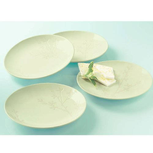 Spring Bloom & Vines Appetizer Plates (set of 4)