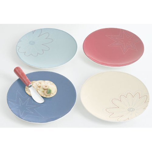 Faded Stars Appetizer Plates (set of 4)