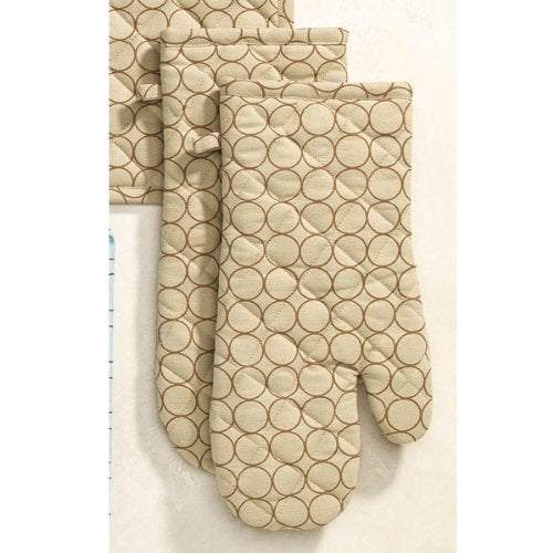 Rings Oven Mitts (set of 2) - Beige
