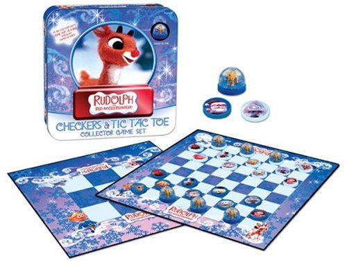 Rudolph the Red-Nosed Reindeer Checkers & Tic Tac Toe Tin