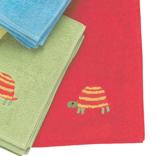 Embroidered Turtle Bath Towel