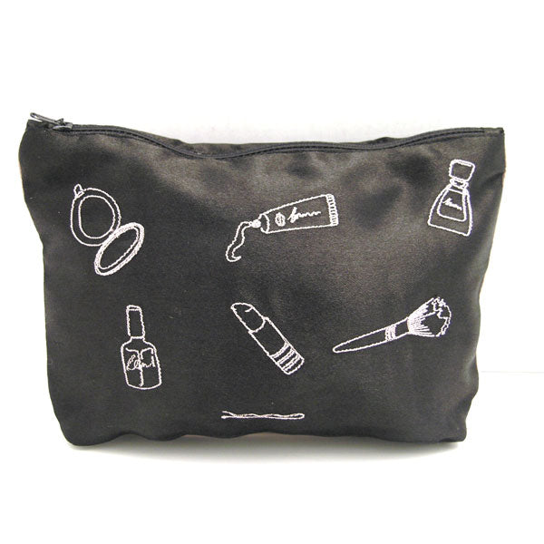Amelie Make Up Embroidered Cosmetic Bag
