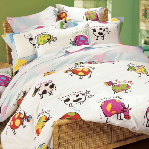 Lily & Lulu - Multicolor Cow, Sheet Set