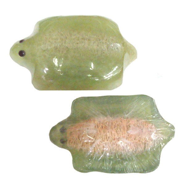 Sea Creature Glycerine Soap-filled Loofah Scrubbers - Crab