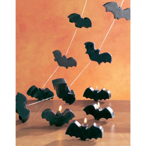 Flying Bat Candles on a String (set of 6)
