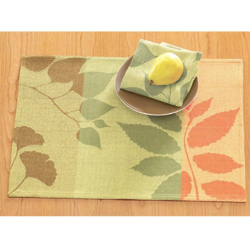"Autumn Leaves Jacquard Table Linen Collection - Napkin (20"" x 20"")"