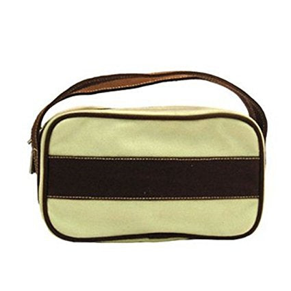 Chocolate Stripes Toiletry Bag