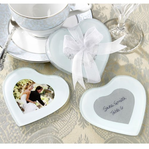 Heart Shape Photo Coasters (set of 2)