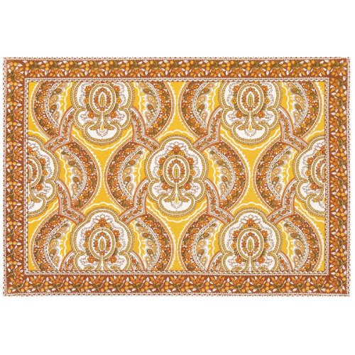 French Paisley Gold Placemat & Napkins