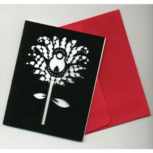 Black & White Passion Flower Note Cards (set of 5)
