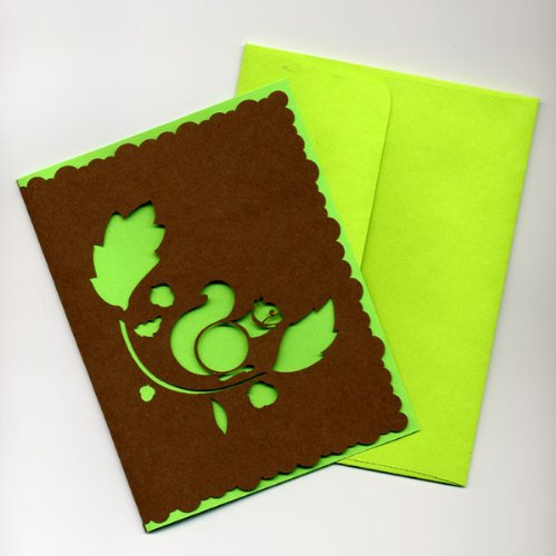 Autumn Squirrel Greeting Cards (set of 5)