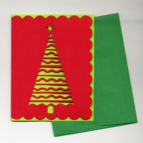 Classic Christmas Tree Greeting Cards (set of 5)