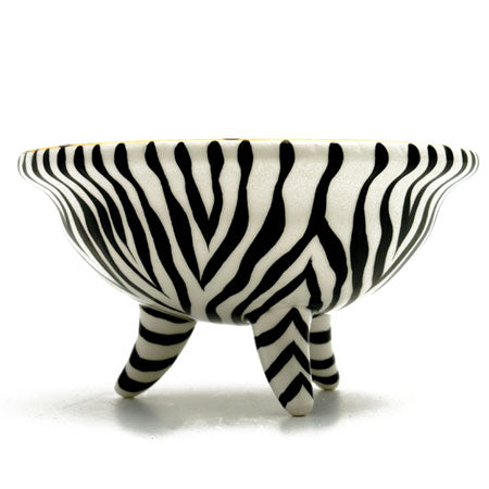 Animal Print Zepard Footed Jewelry Dish