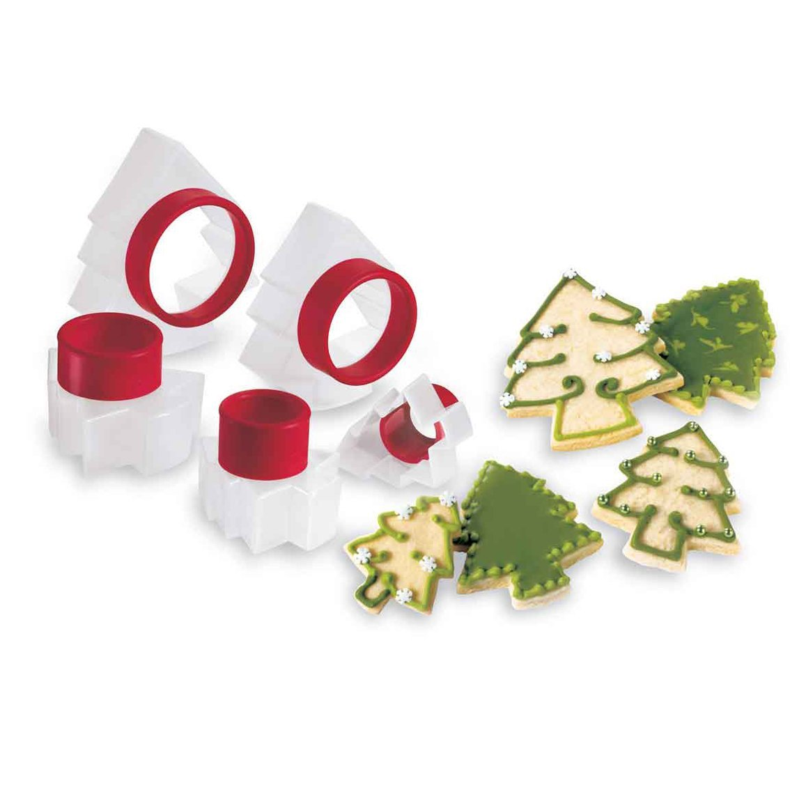 Cuisipro Holiday Tree Shape Cookie Cutters (set of 5)