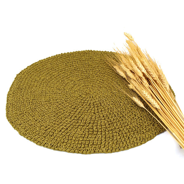 Straw Round Placemat (set of 4)