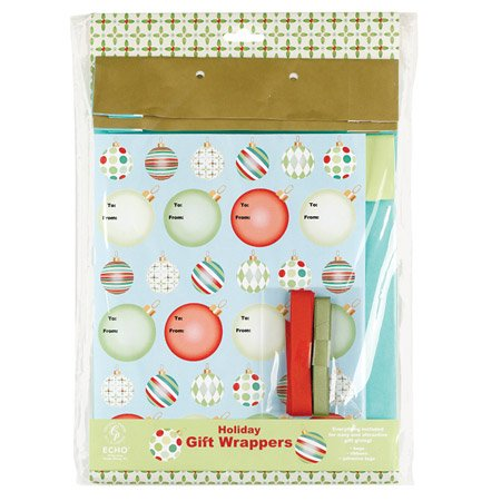 Floating Ornaments Holiday Gift Wrappers