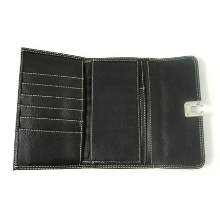 Silver Buckle Long Wallet